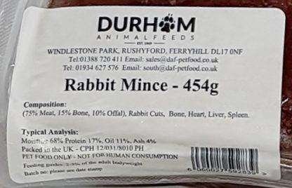 DAF Rabbit Mince Label