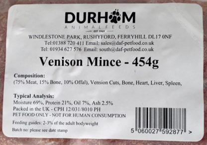 DAF Venison Mince Label
