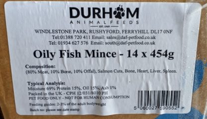 DAF Oily Fish Box of 14 Label