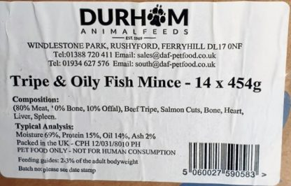 DAF Tripe and Oily Fish Mince Box of 14 Label