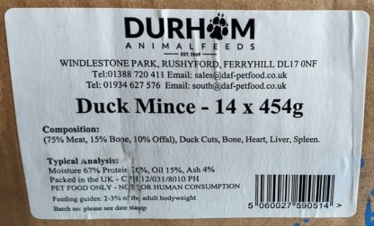 DAF Duck Box of 14 Label