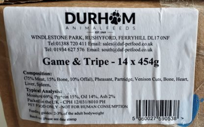 DAF Game and Tripe Box of 14 Label