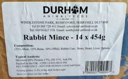DAF Rabbit Mince Box of 14 Label