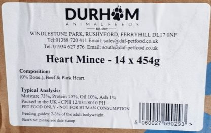 DAF Heart Mince Box of 14 Label
