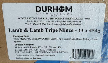 DAF Lamb and Lamb Tripe Box of 14 Label