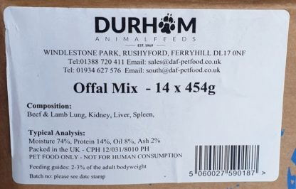 DAF Offal Mix Box of 14 Label