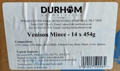 DAF Venison Box of 14 Label
