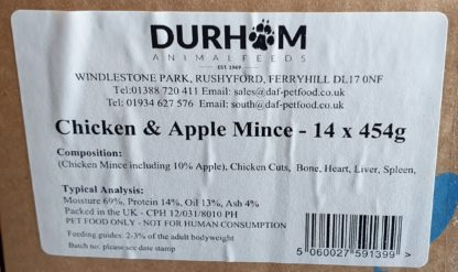 DAF Chicken and Apple Box of 14 Label