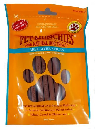 Beef Liver Sticks Pet Munchies