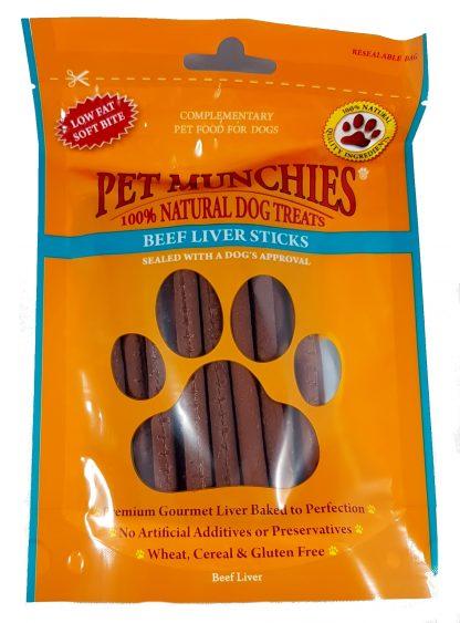 Beef Liver Sticks Pet Munchies