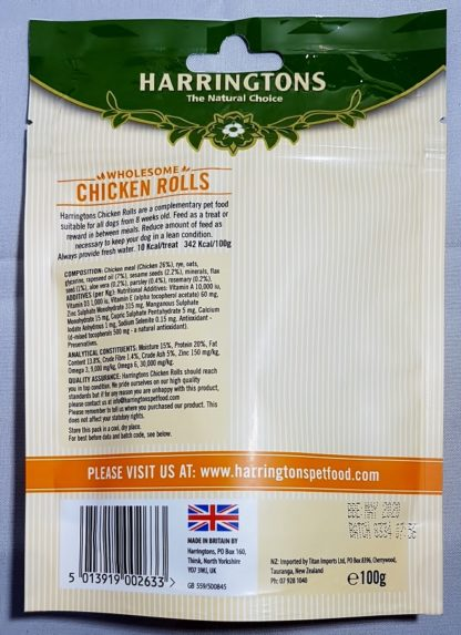 Chicken Rolls Natural Treats