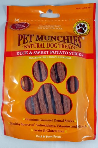 Duck and Sweet Potato Sticks Pet Munchies