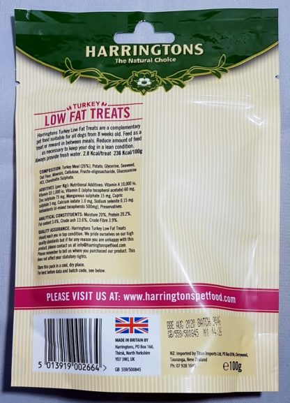 Turkey Low Fat Natural Treats