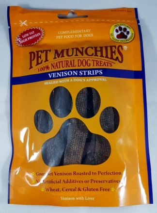 Venison Strips Pet Munchies