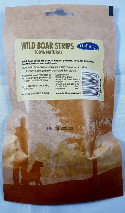 Wild Boar Strips Natural Treats