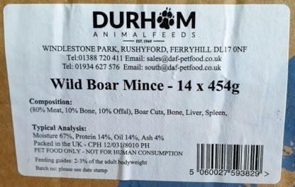 DAF Wild Boar Mince Mince Box of 14 Label