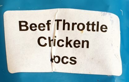 DAF Beef Throttle Stuffed with Chicken Label