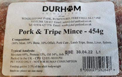 DAF Pork and Tripe Mince Label