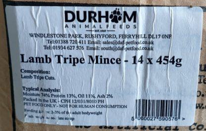 DAF Lamb Tripe Box of 14 Label