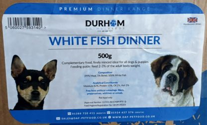 DAF White Fish Dinner Box of 24 Label