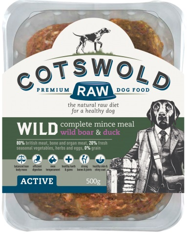 Cotswold Raw Wild Boar and Duck 500g