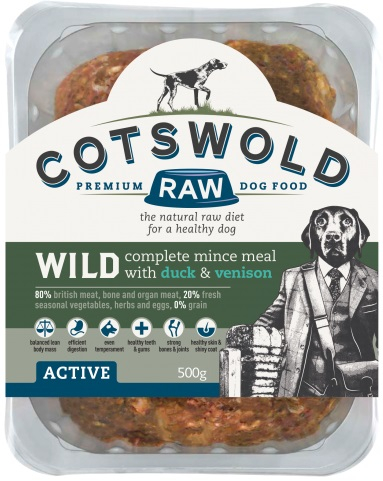 Cotswold Raw Wild Duck and Venison 500g