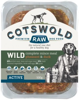 Cotswold Raw Wild Pheasant and Duck 500g