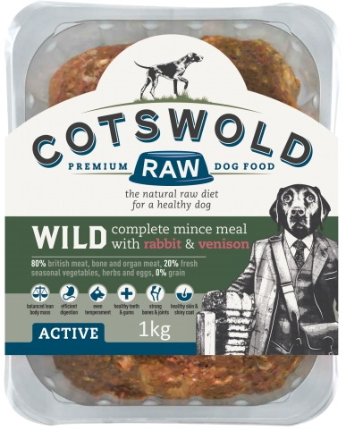 Cotswold Raw Wild Rabbit and Venison 1kg