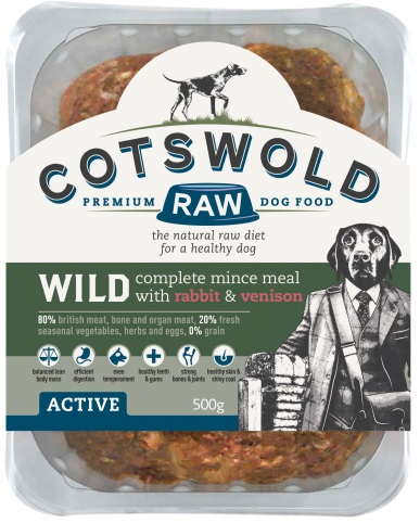 Cotswold Raw Wild Rabbit and Venison 500g