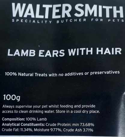 Lamb ears with hair label