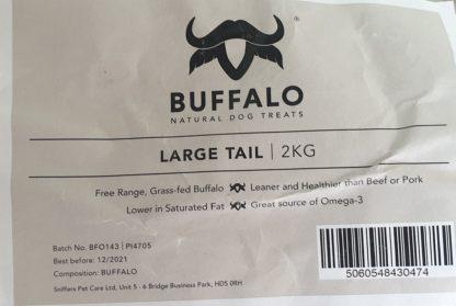 Buffalo tails label