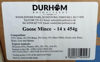 DAF Goose Mince Label