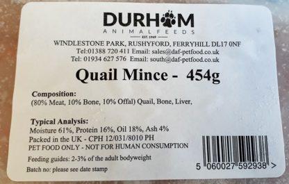 DAF Quail Mince Label