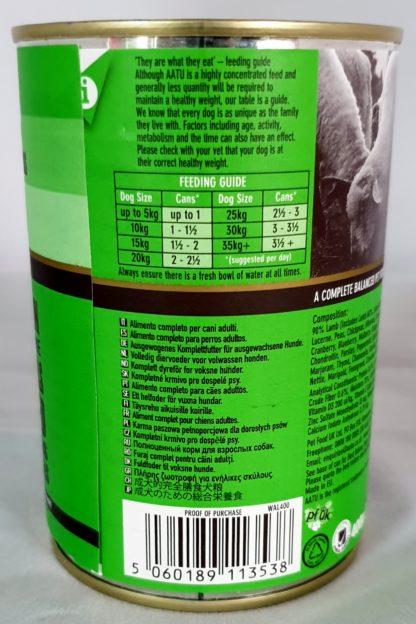 AATU Tinned Lamb Feeding Guide