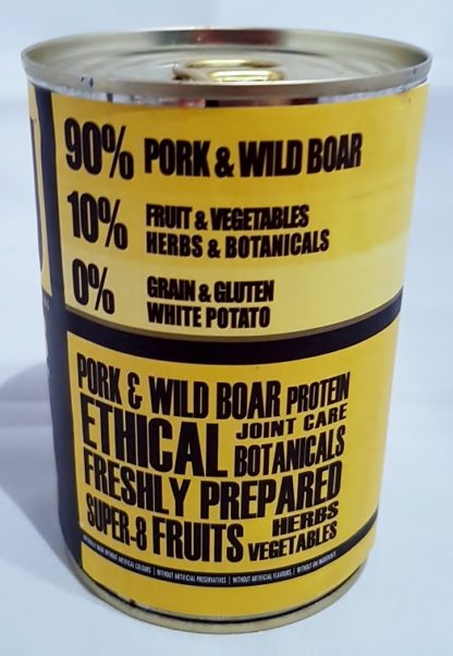 AATU Tinned Pork and Wild Boar Contents