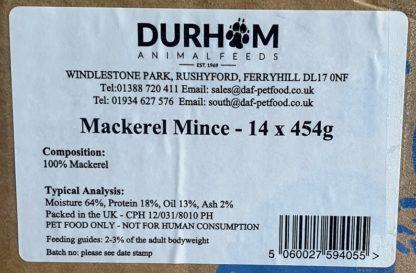 DAF Mackerel Mince Label