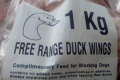 MJ Free Range Duck Wings Label