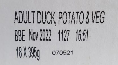 Forthglade Duck with Potato and Veg Label