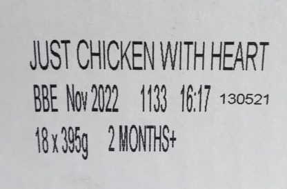 Forthglade Just Chicken with Heart Label