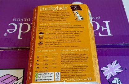 Forthglade Just Chicken with Tripe Feeding Guide