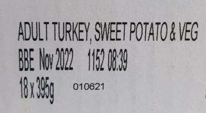 Forthglade Turkey with Sweet potato and Veg Label