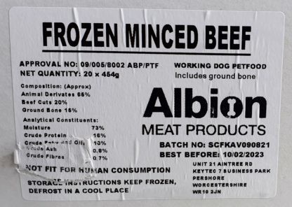 Albion Value Beef Label